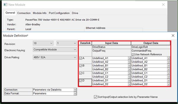 Cantidad de datalinks disponible en un PowerFlex 700