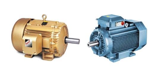 Diferencias físicas entre Motores  IEC y NEMA