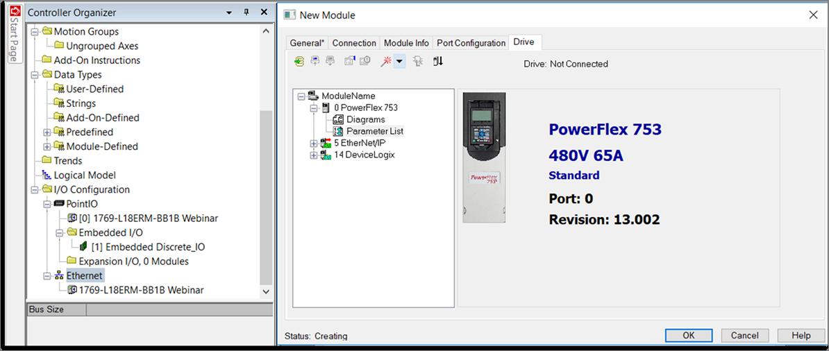 Interfaz Add On Profile permite programar los variadores PowerFlex en el Studio 5000