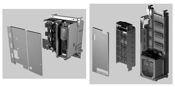 Módulos de control y potencia extraíbles en PowerFlex 755 High Power