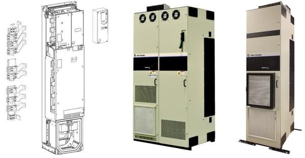 PowerFlex 755 High Power en sus presentaciones IP00, IP20 y IP54